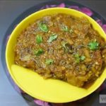 Baigan (Eggplant) Badi Curry Recipe Using Pressure cooker